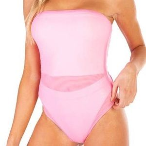 Pink mesh cover up for raves